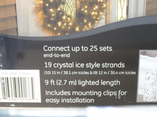GE Twinkling LED Icicle Set Costco 5