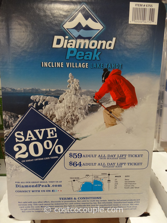 Gift Card Diamond Peak Costco 2