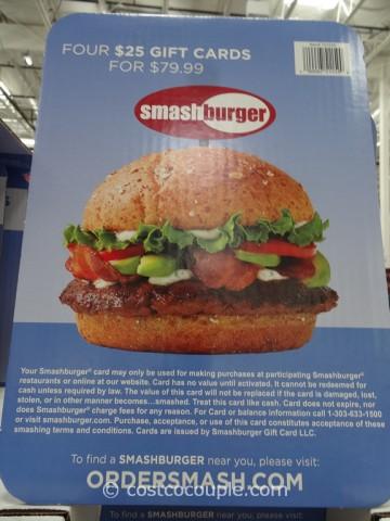 Gift Card Smash Burger Costco 2