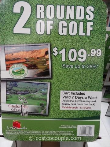 Gift Card Wente Vineyards and Cinnabar Hills Golf Costco 4