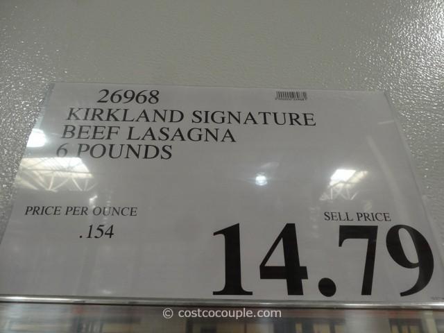 Kirkland Signature Beef Lasagna Costco 1