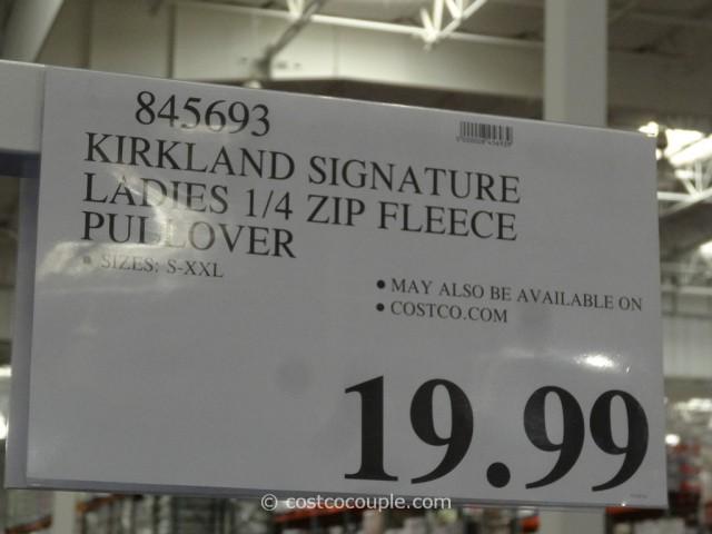 Kirkland Signature Ladies Polartec Pullover Costco 1
