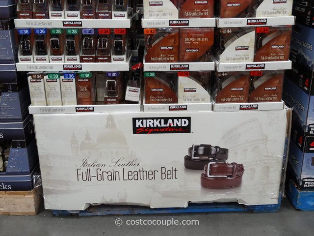 Kirkland Signature Mens Italian Leather Belt Costco 2