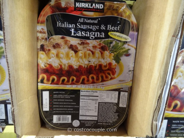Kirkland Signature Sausage And Beef Lasagna Costco 2