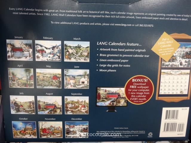 Lang Special Edition Wall Calendars Costco 6