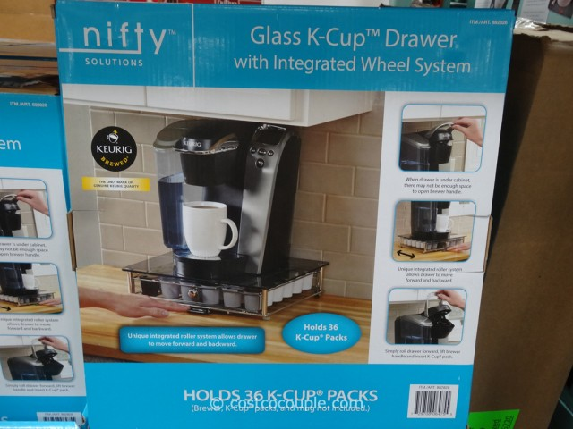 Nifty Glass K-Cup Drawer Costco 3