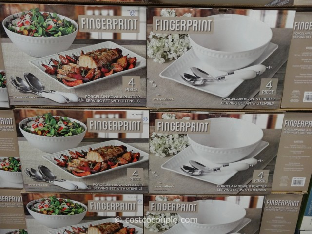 Over and Back Fingerprint Porcelain Serving Set Costco 1