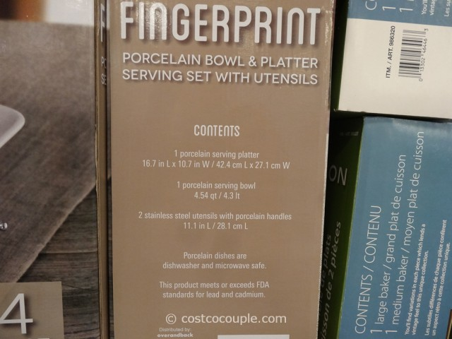 Over and Back Fingerprint Porcelain Serving Set Costco 4