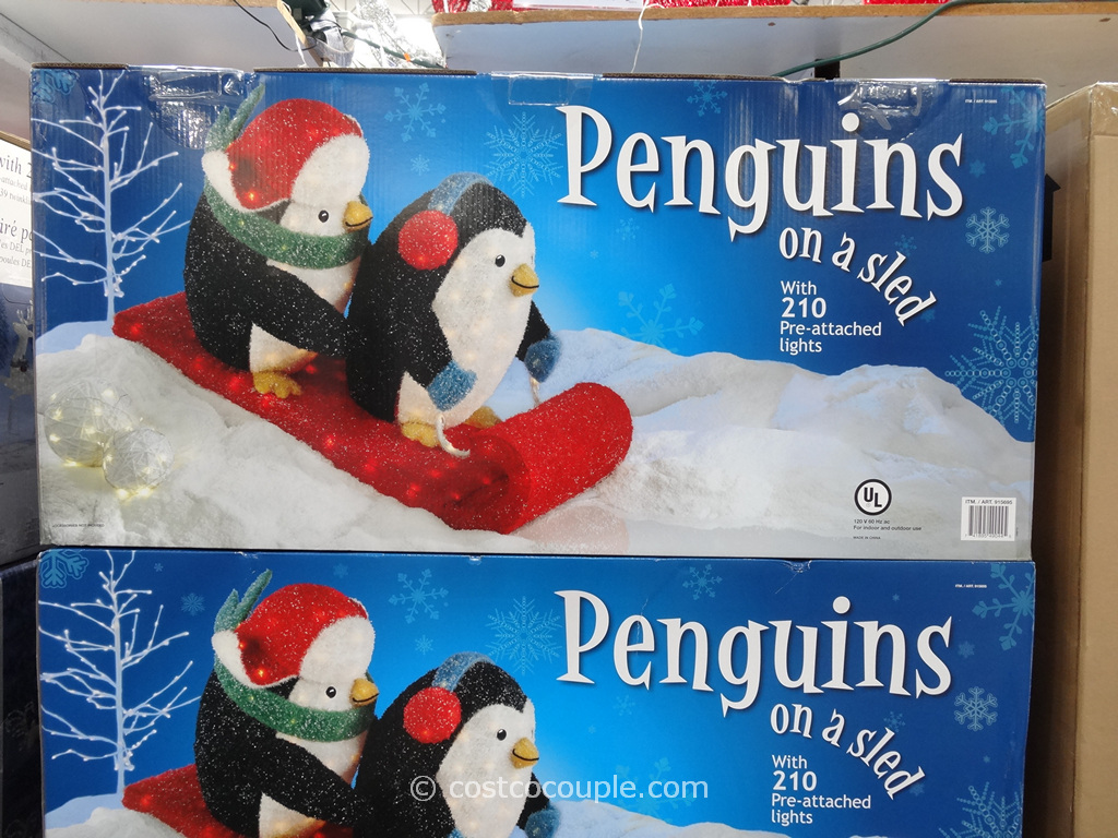 Penguins On A Sleigh Costco 1