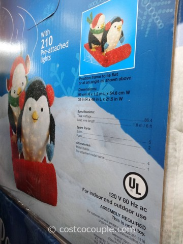 Penguins On A Sleigh Costco 2