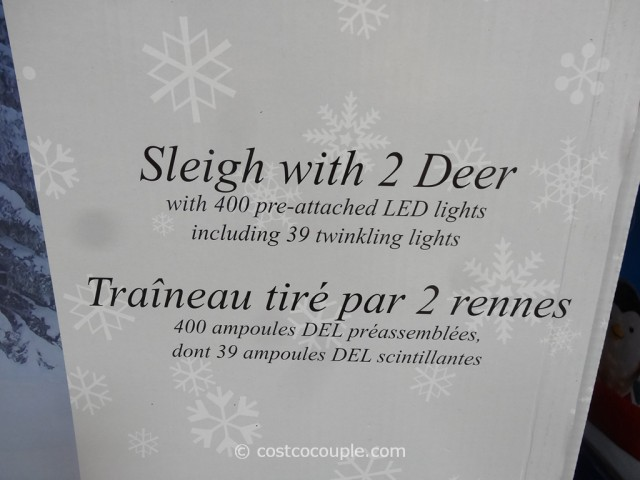 Sleigh With 2 Deer LED Set Costco 5