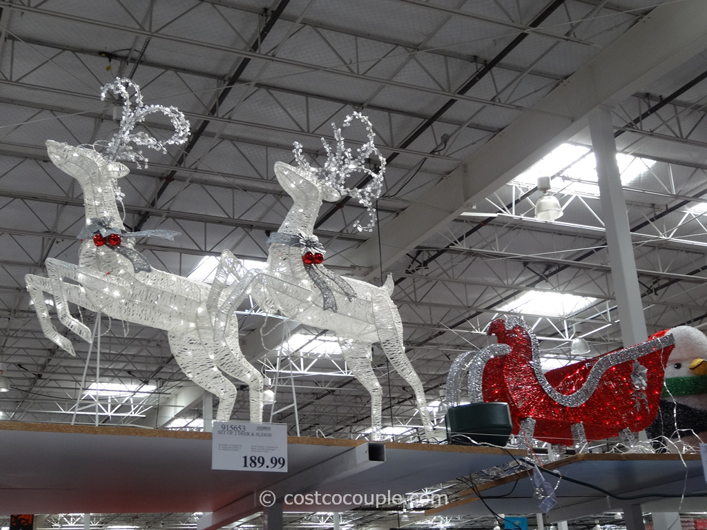 Sleigh With 2 Deer LED Set Costco 7