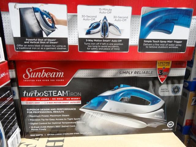 Sunbeam TurboSteam Iron Costco 4