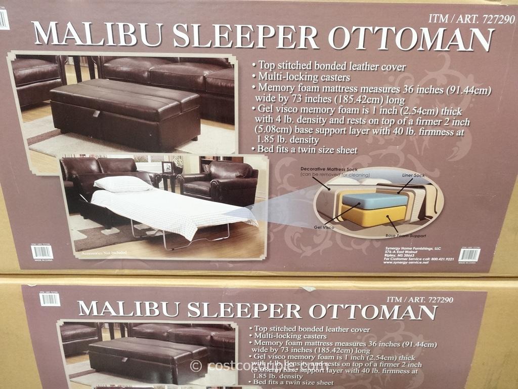 Synergy Malibu Sleeper Ottoman Costco 4