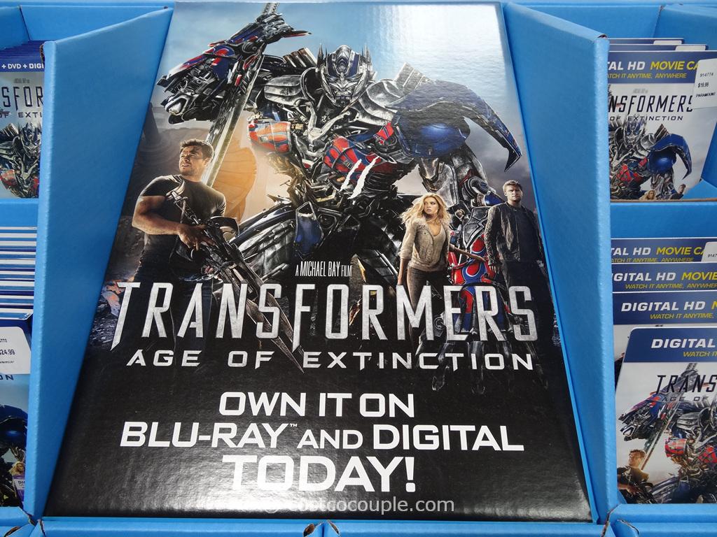 Transformers Age of Extinction DVD Blu-Ray Digital HD Costco 1