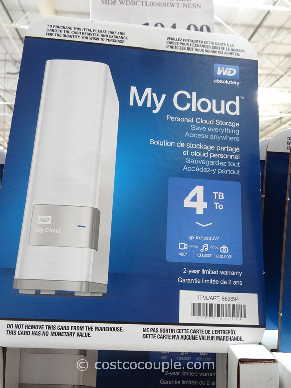 WD 4TB My Cloud Personal Storage Costco 2
