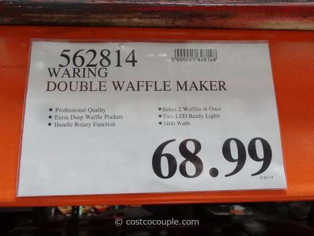 waringpro double waffle maker costco 1 - Waring Pro Waffle Maker