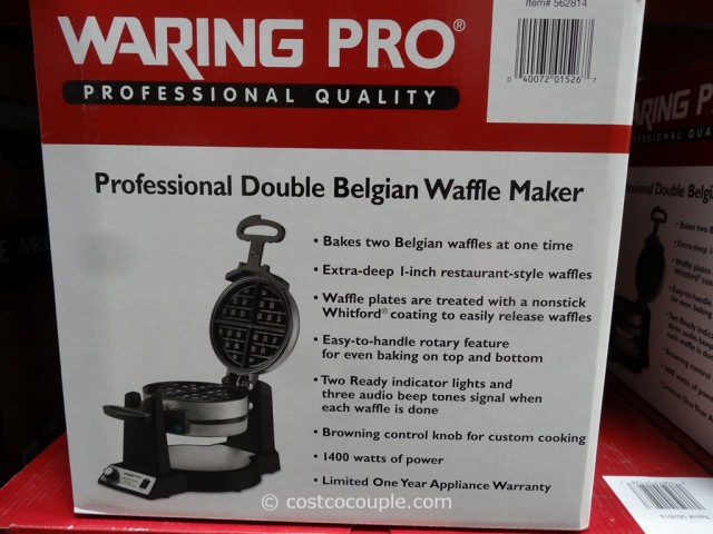 WaringPro Double Waffle Maker Costco 3