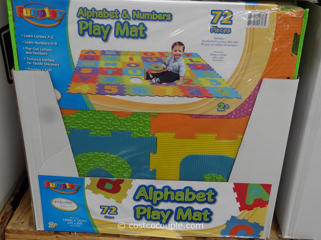 72-Pieces Alphabet Play Mat Costco 2