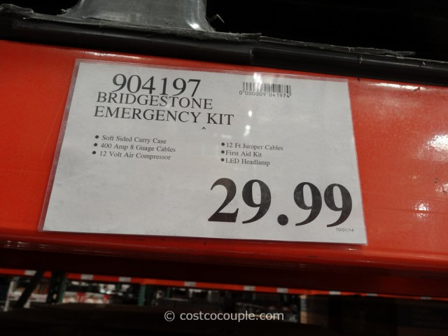 Bridgestone Auto Emergency Kit Costco 1