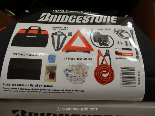 Bridgestone Auto Emergency Kit Costco 4