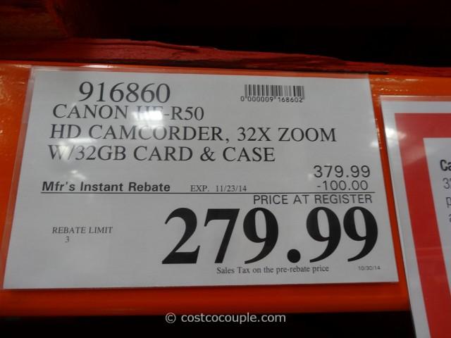 Canon Vixia HFR50 Camcorder Costco 1