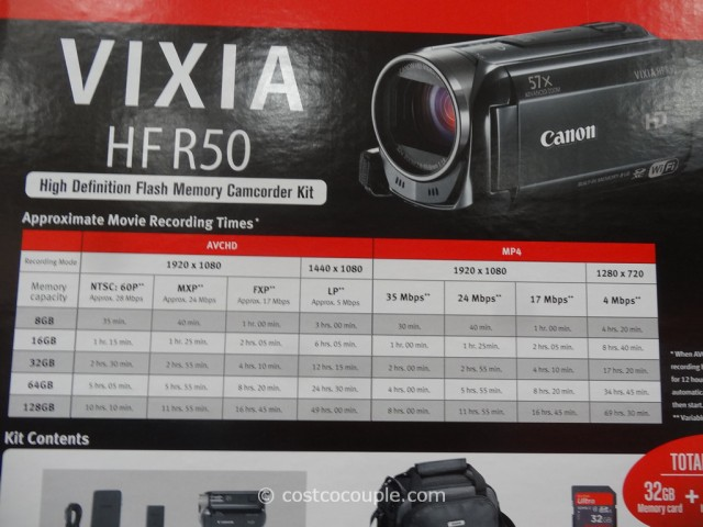 Canon Vixia HFR50 Camcorder Costco 5