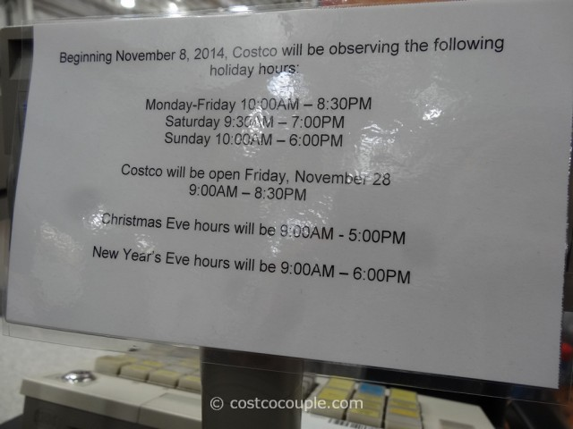 costco 2014 holiday hours. Black Bedroom Furniture Sets. Home Design Ideas