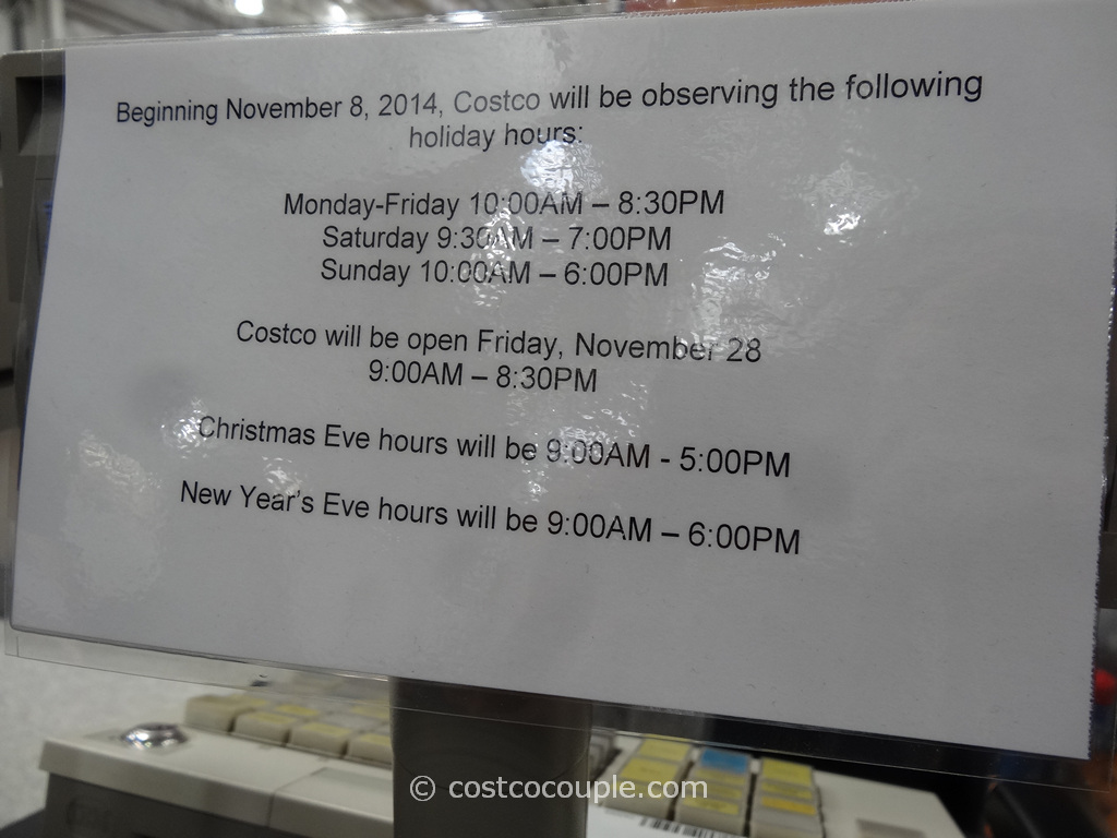 Costco 2014 Holiday Hours