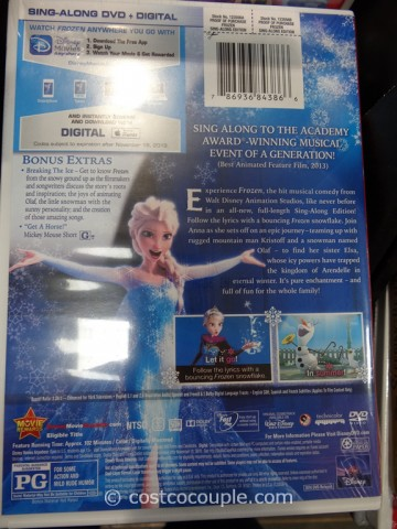 Disney Frozen Sing-Along DVD Costco 6