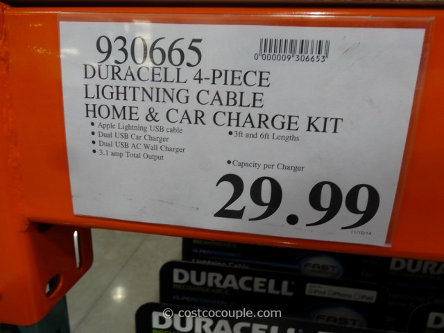 Duracell Lightning Cable Kit Costco 1