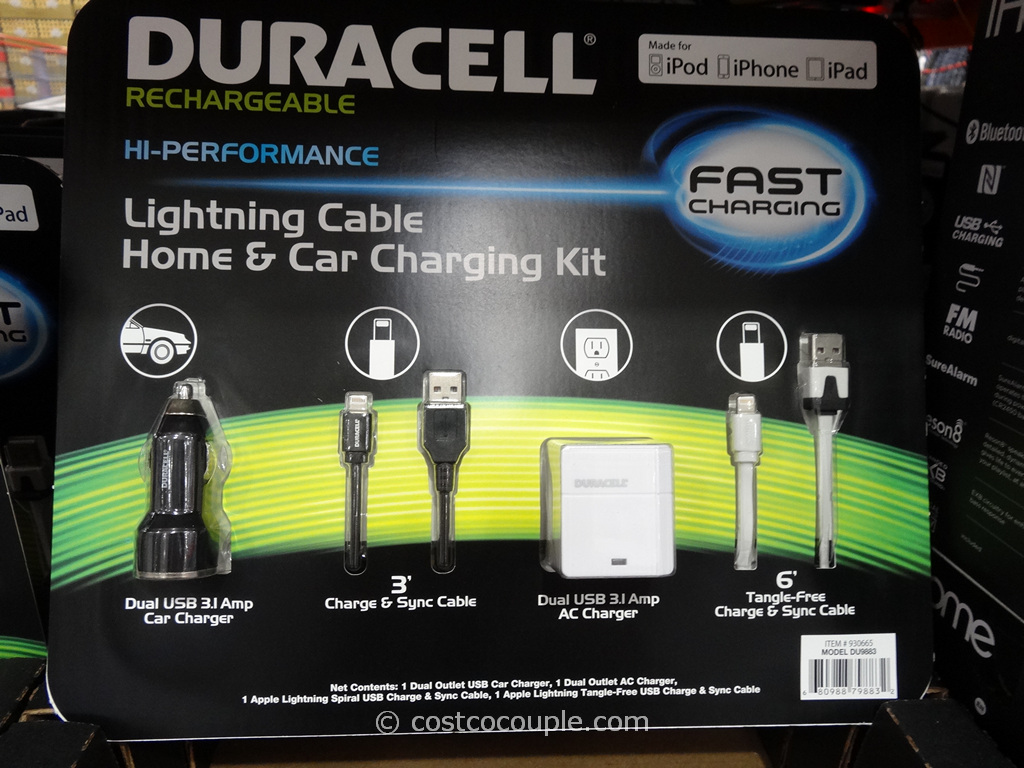 Duracell Lightning Cable Kit Costco 3