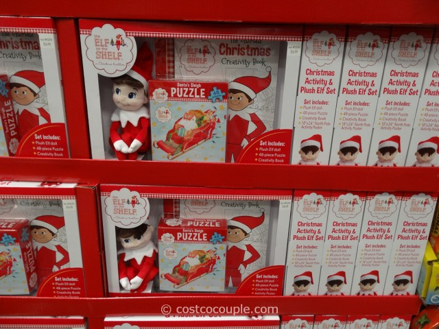 Elf on the shelf christmas activity and plush elf set - Costco toys for kids ...