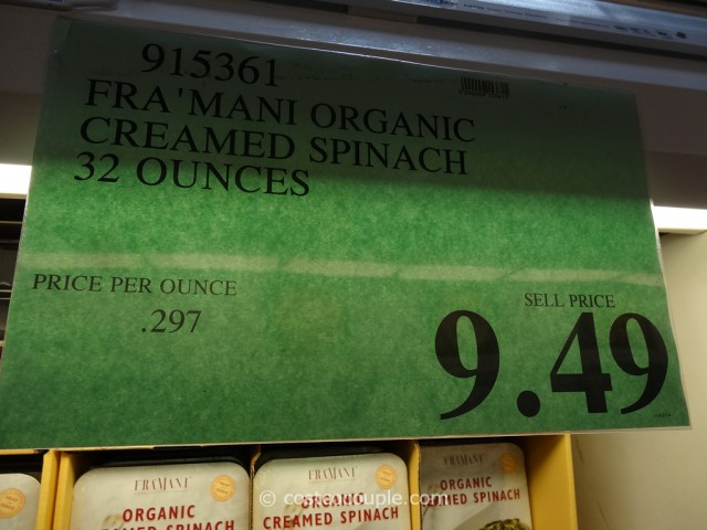 Framani Organic Creamed Spinach Costco 1