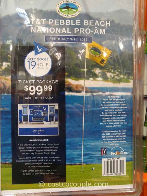 Gift Card AT&T Pebble Beach National Pro-Am Costco 1