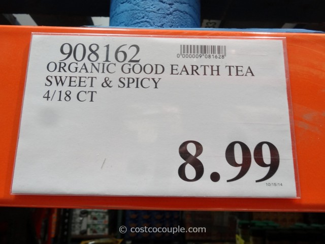 Good Earth Organic Sweet and Spicy Herbal Tea Costco 3