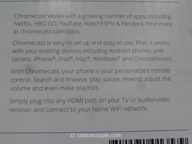 Google Chromecast Costco 5