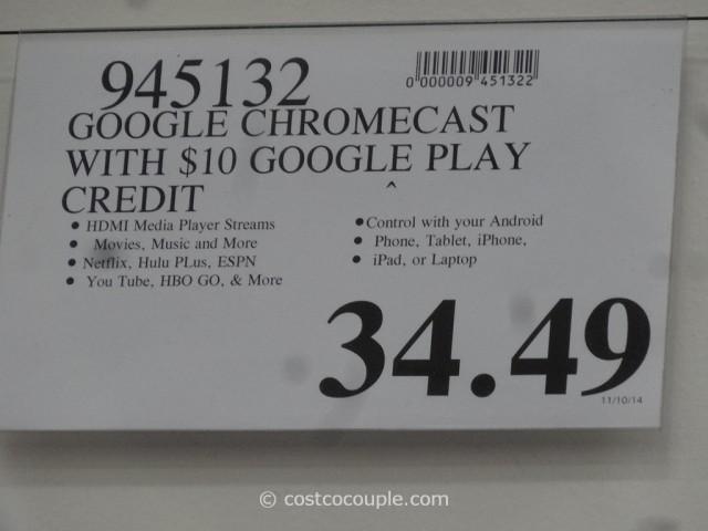 Google Chromecast Costco 6