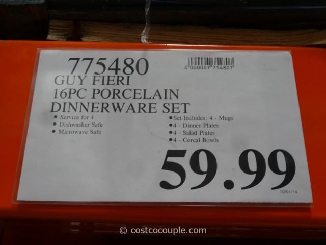 Guy Fieri Porcelain Dinnerware Set Costco 1
