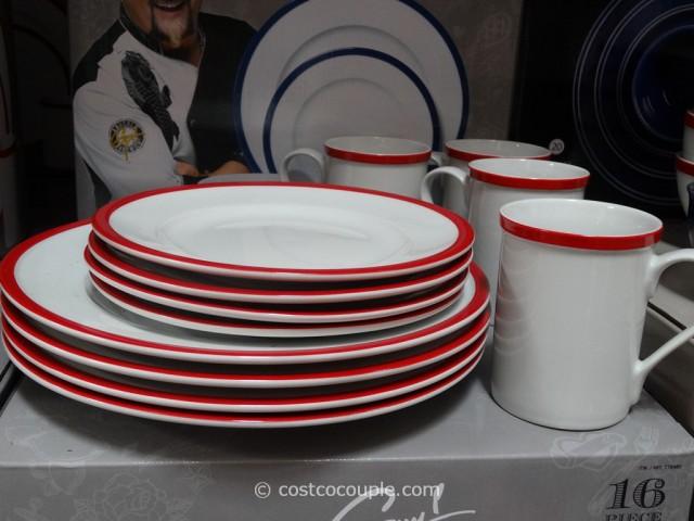 Guy Fieri Porcelain Dinnerware Set Costco 2