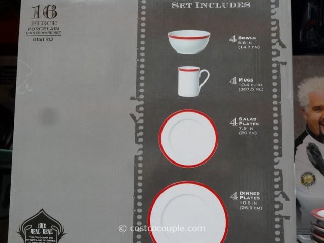 Guy Fieri Porcelain Dinnerware Set Costco 4