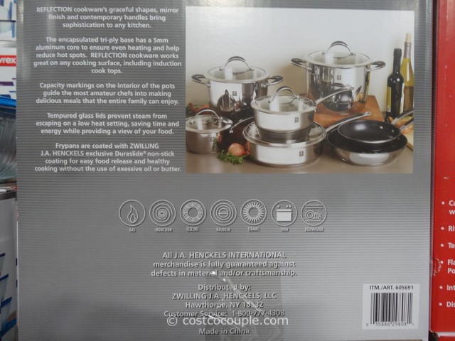 JA Jenckels 12-Piece Reflection Cookware Set Costco 5