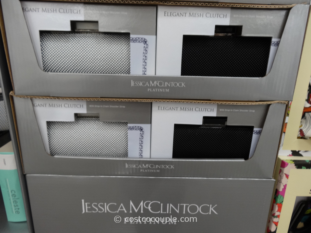 Jessica McClintock Mesh Clutch Costco 3