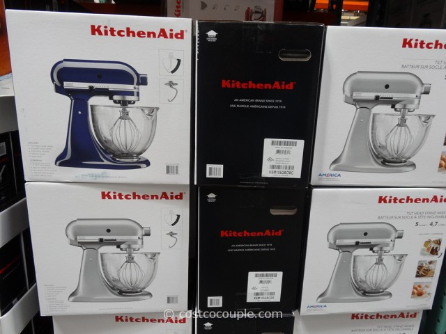 KitchenAid Tilt Head Stand Mixer With Glass Bowl Costco 2