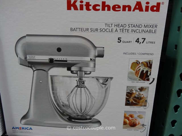 KitchenAid Tilt Head Stand Mixer With Glass Bowl Costco 3