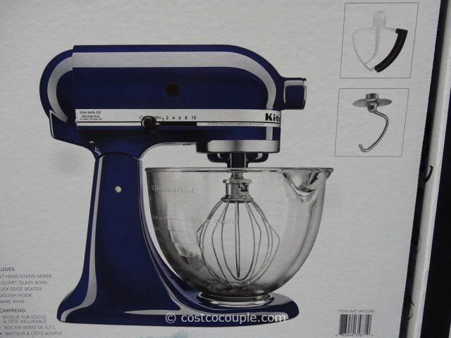 KitchenAid Tilt Head Stand Mixer With Glass Bowl Costco 4