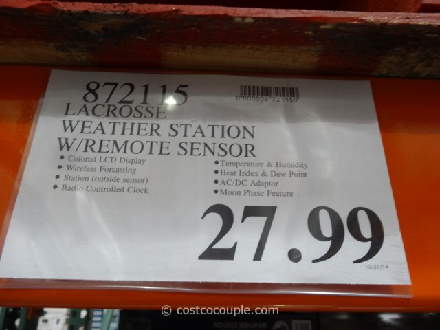 LaCrosse Weather Station Costco 1