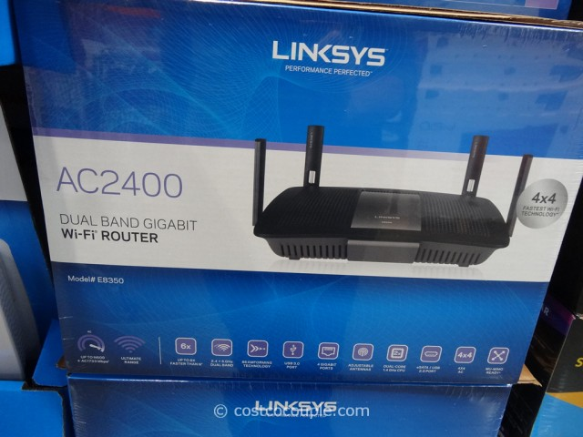 Linksys AC25400 Wireless Dual Band Router Costco 2