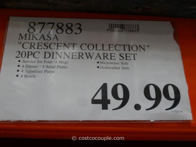 Mikasa Gourmet Basics Crescent Collection Dinnerware Set Costco 1