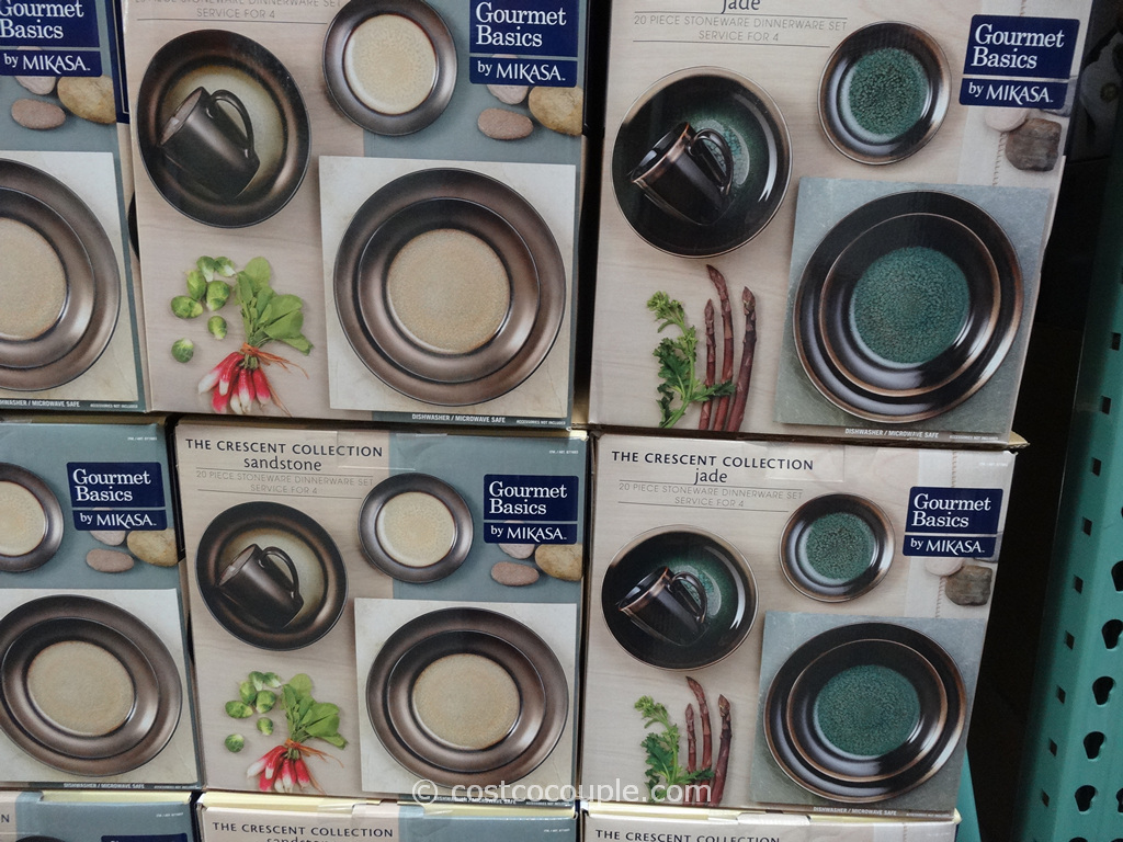 Mikasa Gourmet Basics Crescent Collection Dinnerware Set Costco 2